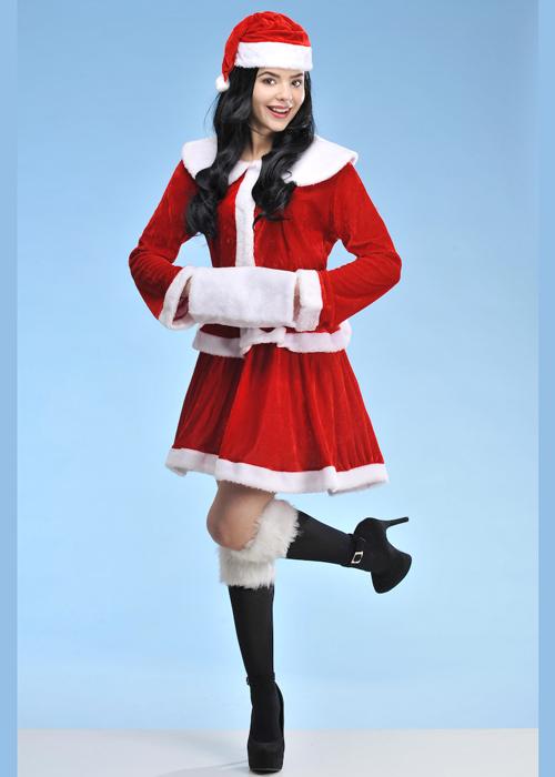 Miss Christmas.Womens Christmas Mrs Claus Santa Costume Ladies Mrs