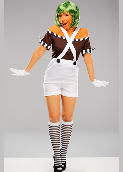 Adult Womens Oompa Loompa Style Costume 3705 Disc