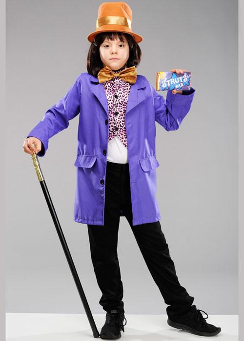 Kids Size Willy Wonka Style Costume