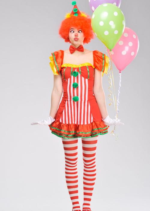 sc 1 st  Struts Fancy Dress & Ladies Cute Boo Boo The Clown Fancy Dress Costume