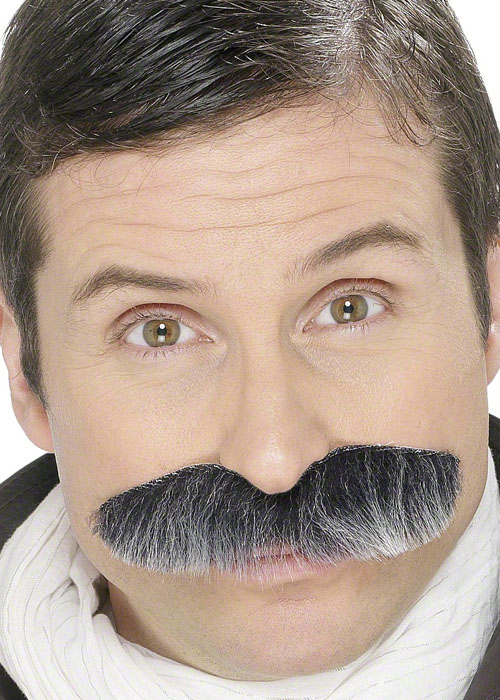 40s Grey Squadron Leader Fake Moustache