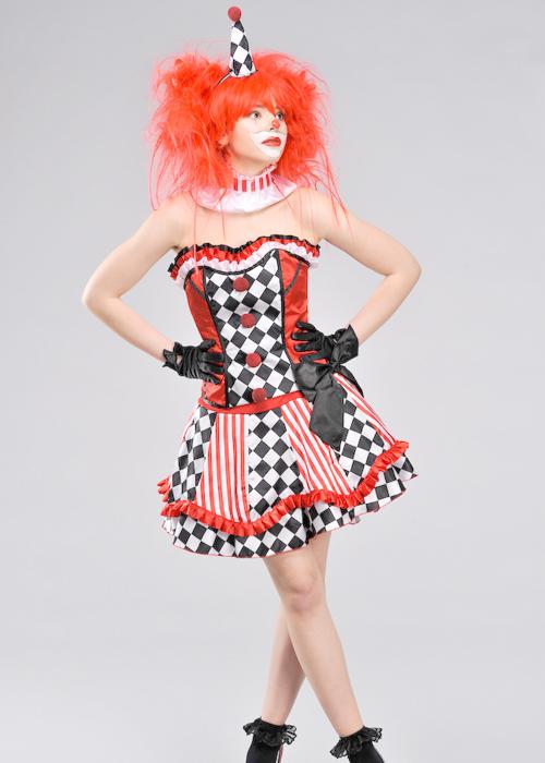 Ladies Sexy Clown Cutie Costume