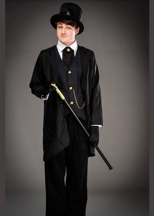 Mens Black Victorian Gentleman Costume