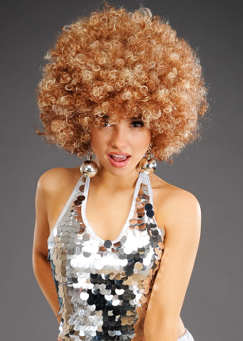 Adult Size Natural Brown 70s Afro Wig
