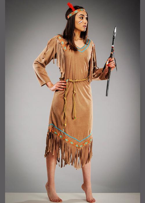 sc 1 st  Struts Fancy Dress & Womens Cheyenne Indian Squaw Costume