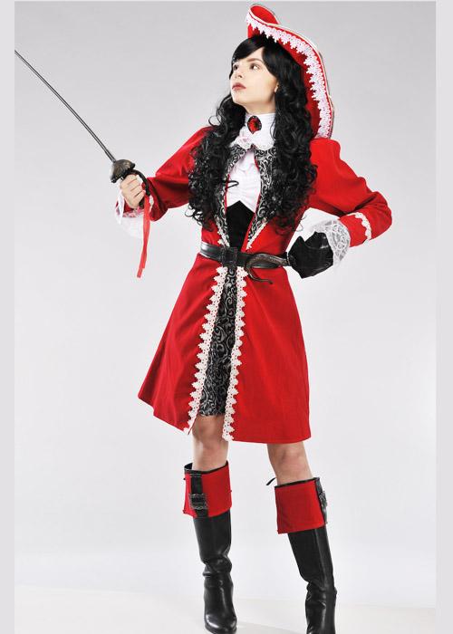 Authentic Pirate Lady Captain Costume