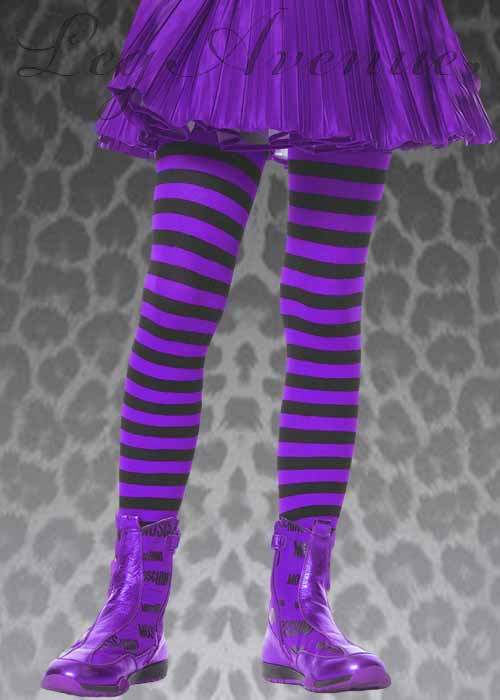 71db61aafc64c Childrens Black And Purple Striped Tights