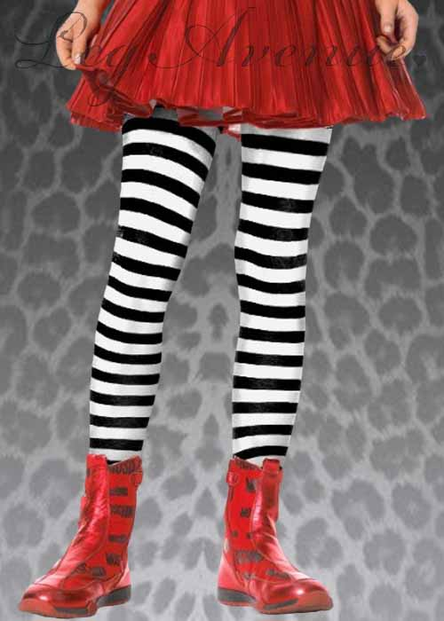 0e27fd61fa6b2 Kids Leg Avenue Black & White Striped Tights