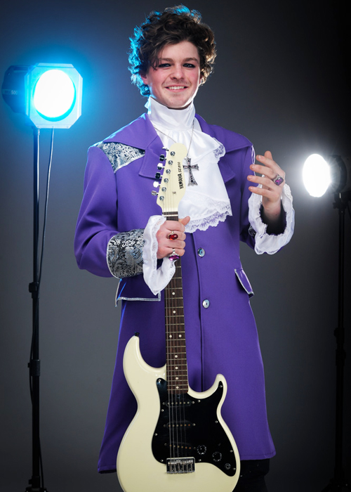 Homme PRINCE PURPLE RAIN Costume 80 S robe fantaisie musique 1980 S Célébrité Tenue