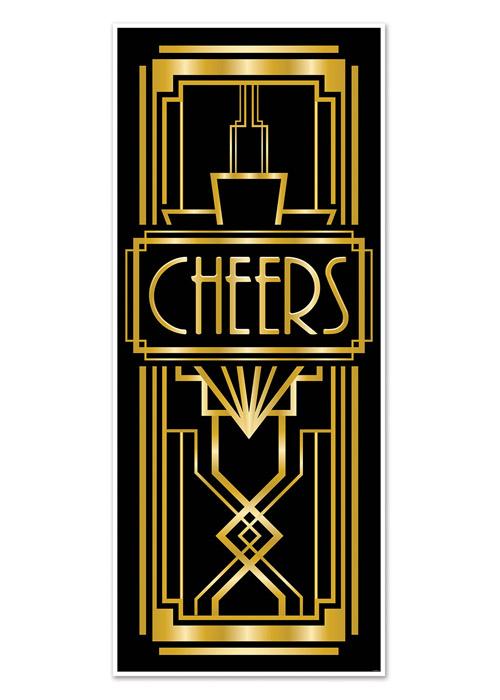 1920s party great gatsby style door decoration ebay for 1920s door design