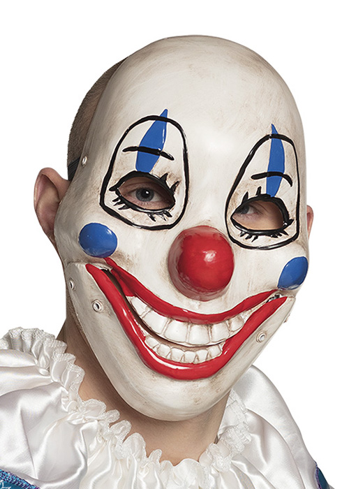 Adult Evil Clown Moving Jaw One Size Plastic Mask Halloween Costume Accessory