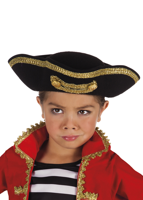 53bd91b0acd Kids Size Deluxe Pirate Tricorn Hat