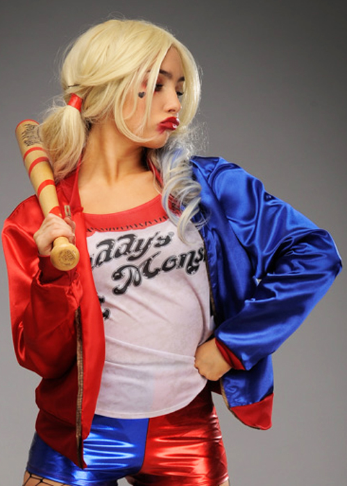 fancy dress party Harley Quinn jackets with attached top costumes