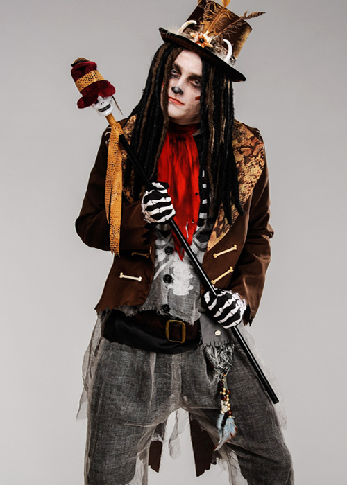 00f5b1474fe Mens Voodoo Witch Doctor Brown Tailcoat Jacket