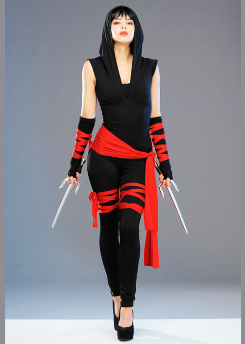 womens deluxe cute ninja warrior costume