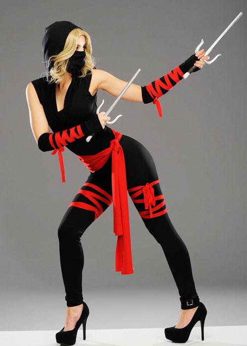 Womens Deluxe Cute Ninja Warrior Costume