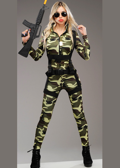 d7cc34d8749 Womens deluxe camouflage army catsuit costume jpg 500x700 Camouflage catsuit