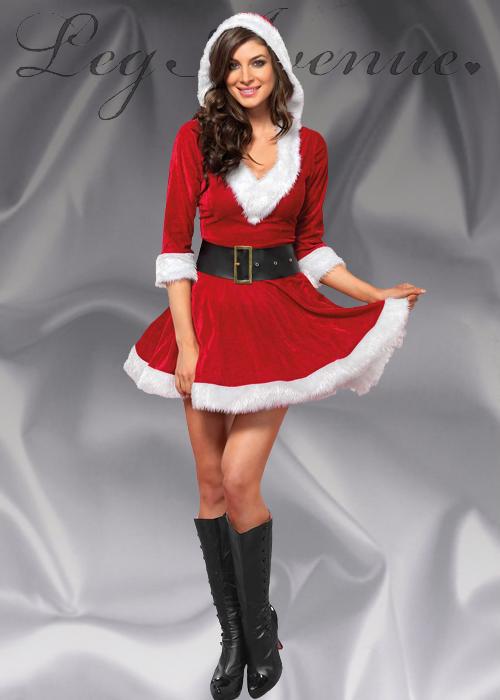 32029e103c6e1 Ladies Leg Avenue Mrs Claus Christmas Costume
