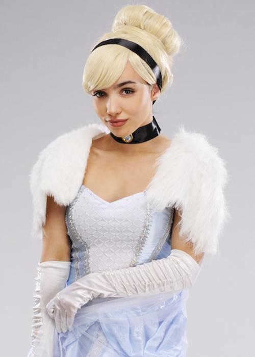 Womens Deluxe Cute Short Cinderella Costume