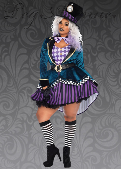 56df9e24870 Plus Size Leg Avenue Delightful Mad Hatter Costume