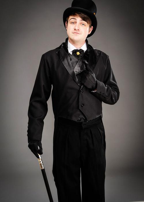 583eb45fb Details about Adult Victorian Black Mens Tailcoat Jacket