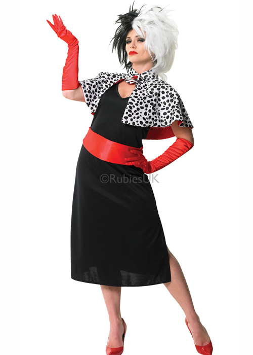 Adult Ladies Disney Cruella De Vil Costume