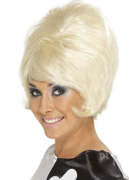 Ladies 50s Blonde Beehive Wig