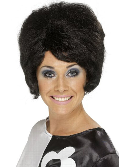 Ladies 50s Black Beehive Wig 32da3ea2ba