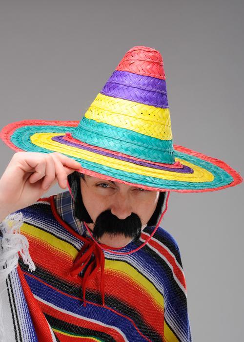 0c5e92be165b Adult Small Bright Mexican Sombrero Hat