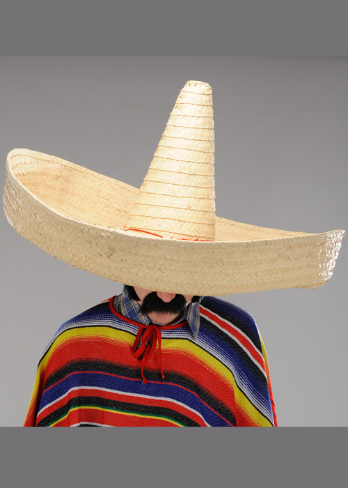 Xxl Mexican Very Large Straw Sombrero Hat