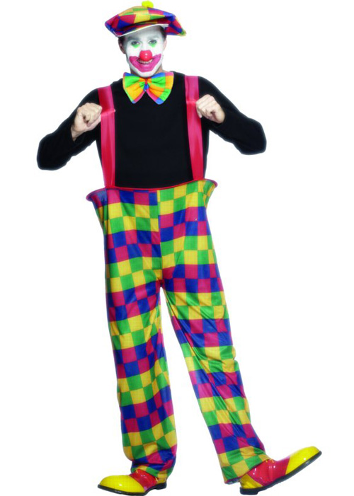 sc 1 st  Struts Fancy Dress & Adult Hooped Circus Clown Costume