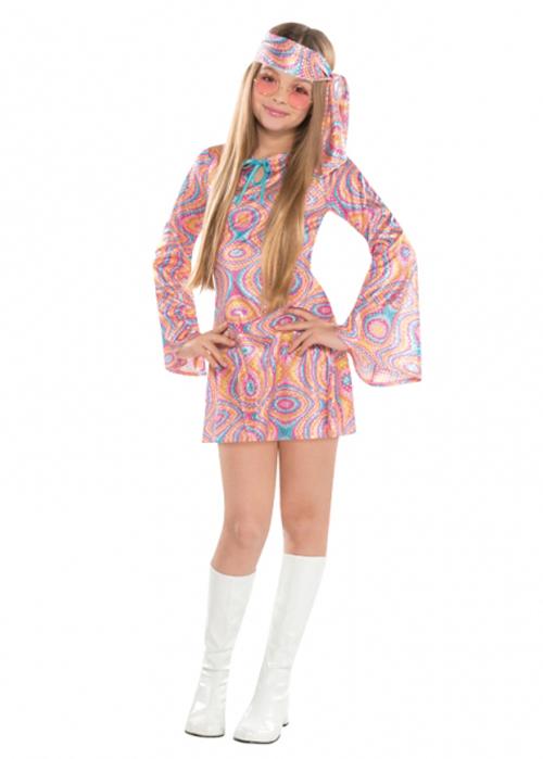 58e44149 Girls 70s Sequin Disco Diva Costume   eBay