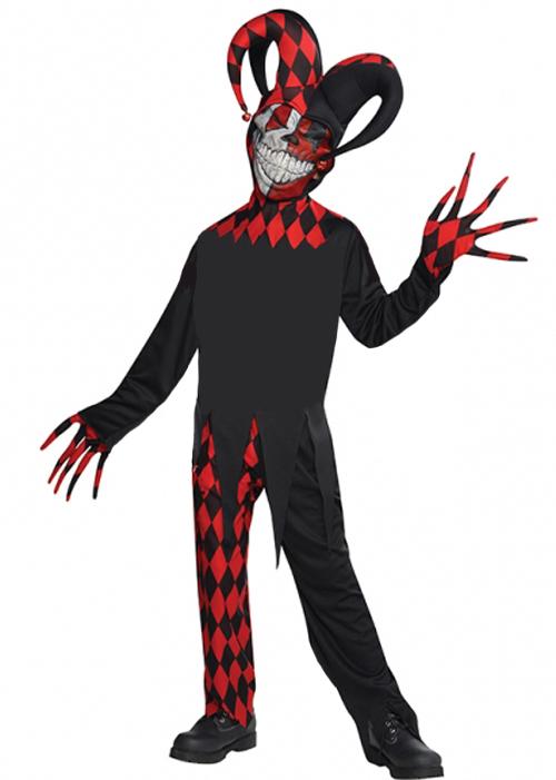sc 1 st  Struts Fancy Dress & Childrens Halloween Crazed Evil Jester Costume