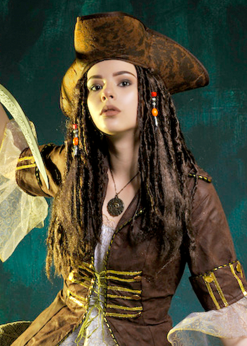 sparrow hair style sparrow style caribbean pirate hat with hair does not 5099