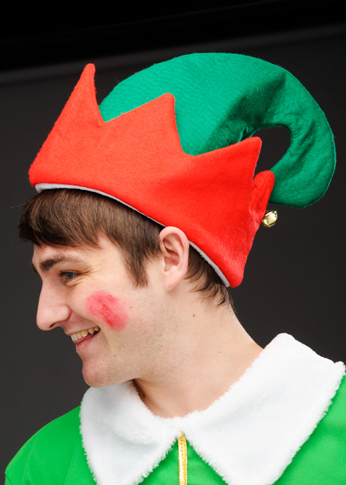 9ad4a0e0399c1 Deluxe Adult Christmas Elf Hat With Bell