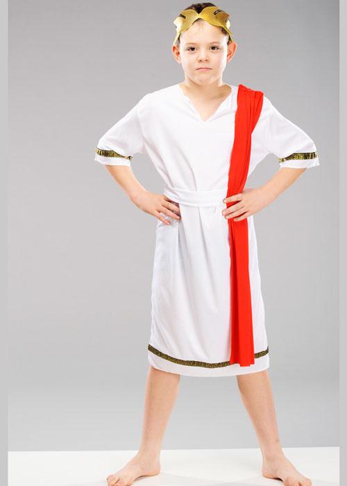 sc 1 st  Struts Fancy Dress & Childrens Roman Emporer Toga Costume