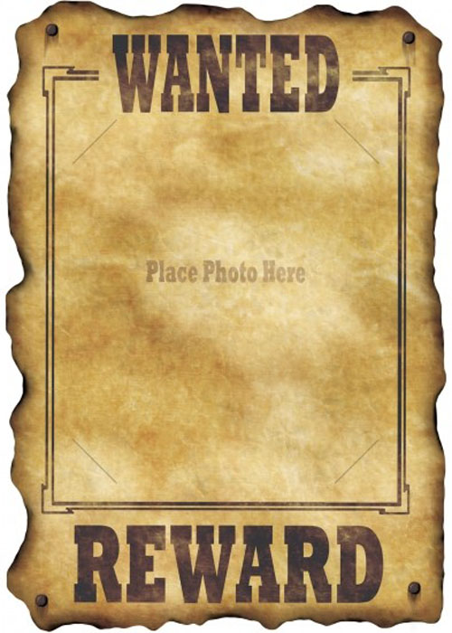 Wild west wanted poster photo decoration for Poster decoratif