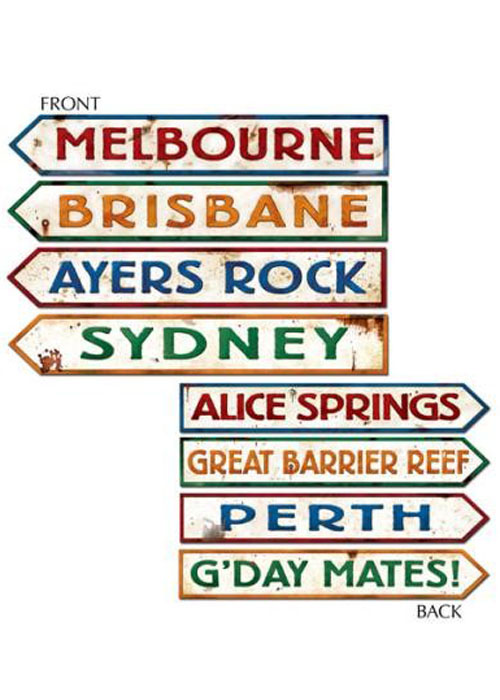 Australian street signs decorations pk4 d55340 struts for Australian decoration ideas