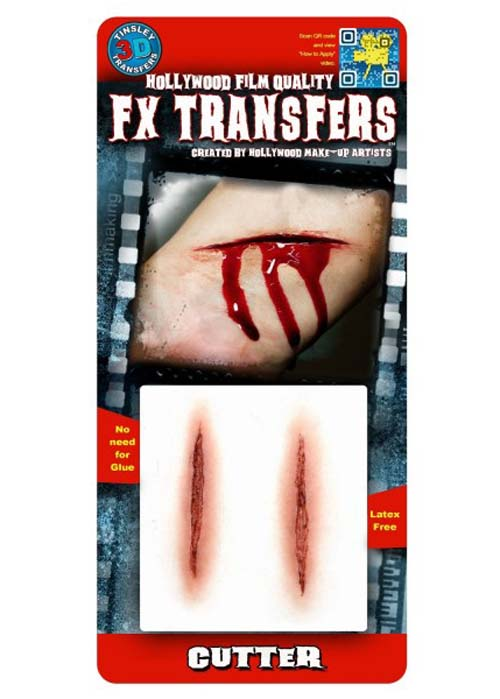 2 Cuts Cutter Fake Scar FX Transfer