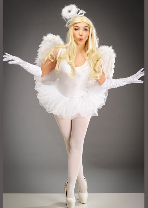 0832b42a2d0a Womens White Christmas Tutu Angel Costume