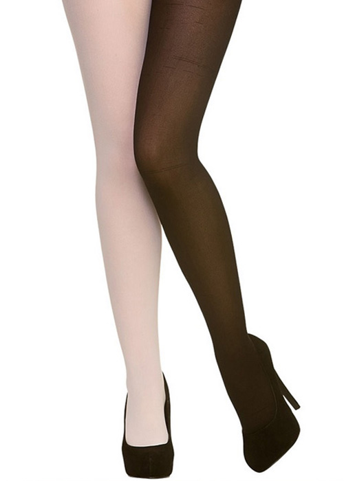 35b59bf4c9be0 Womens Black And White Harlequin Jester Tights