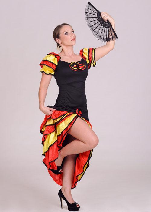 ac595 rumba costume - Spanish Wedding Dresses