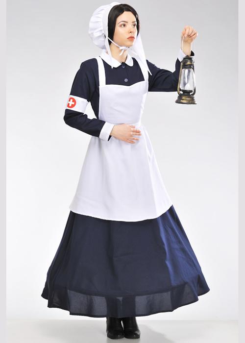 1ecf4ffe3fe59 Womens Florence Nightingale Style Nurse Costume