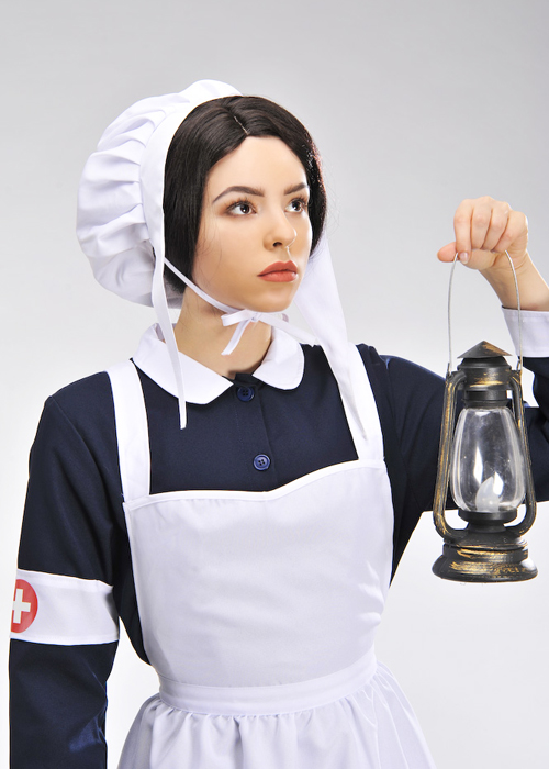 a3c93fc0c239f Womens Florence Nightingale Style Nurse Costume