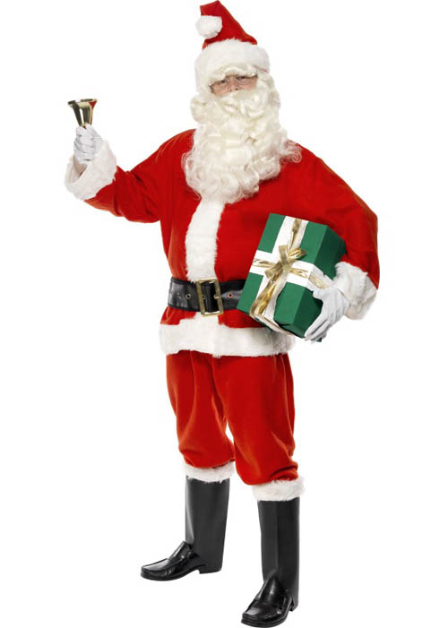 Adult father christmas santa claus costume