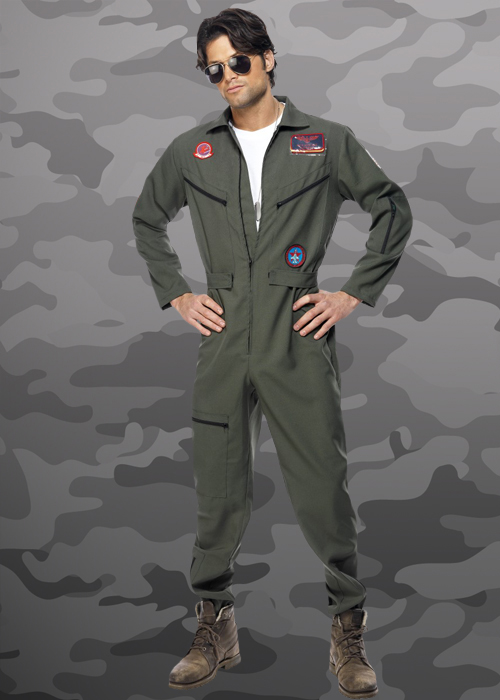 & Adult Mens Top Gun Pilot Costume
