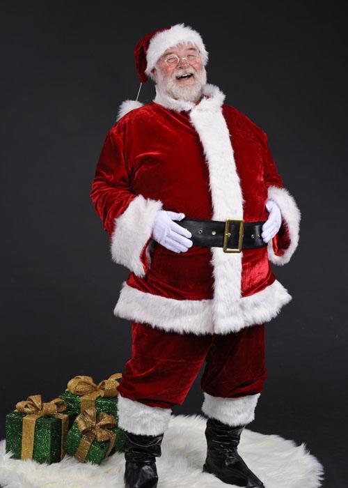 adult mens deluxe plush santa suit costume adult size