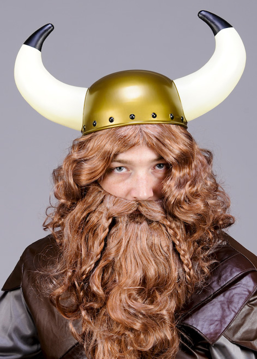 Adult Size Plastic Viking Helmet With Horns d692003a5