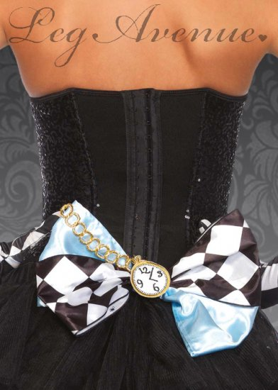 Womens Large Alice Wonderland Hair Bow