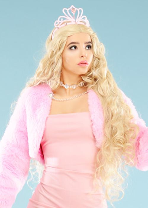 7cc96cef4d59aa Womens Barbie Princess Blonde Wig And Tiara